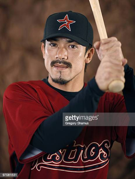 Kazuo Matsui of the Houston Astros poses during photo day at Osceola County Stadium on February 25 2010 in Kissimmee Florida