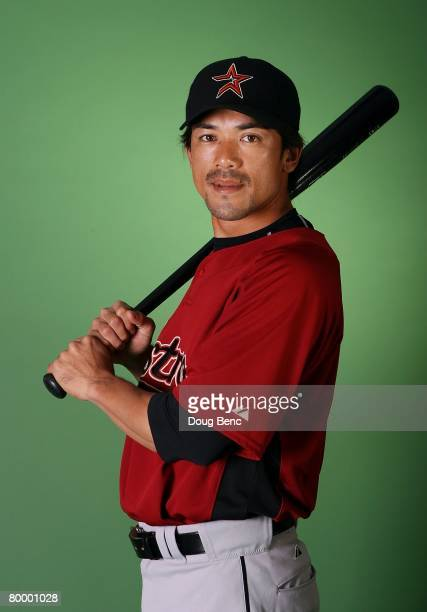 Kazuo Matsui of the Houston Astros poses during Spring Training Photo Day at Osceola County Stadium on February 25 2008 in Kissimmee Florida
