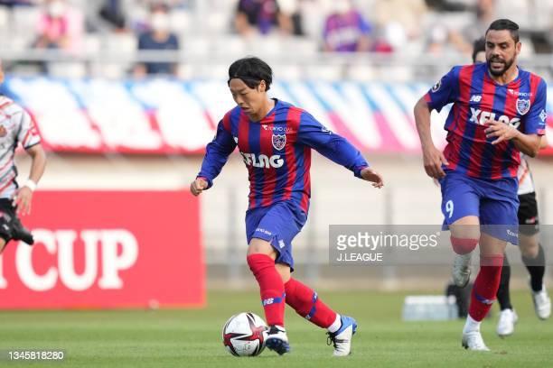 Kazuya KONNO of FC Tokyo in action during the J.League Levain Cup Semi Final second leg match between FC Tokyo and Nagoya Grampus at Ajinomoto...