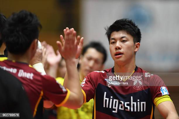Kazuya Shimizu of Fugador Sumida looks on after the FLeague match between Fugador Sumida and Deucao Kobe at the Komazawa Gymnasium on January 8 2018...