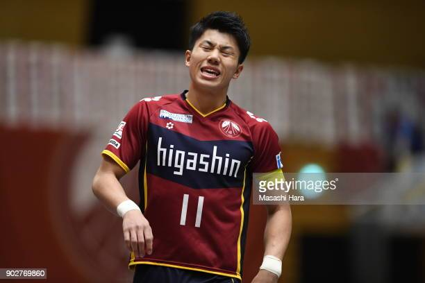 Kazuya Shimizu of Fugador Sumida looks on during the FLeague match between Fugador Sumida and Deucao Kobe at the Komazawa Gymnasium on January 8 2018...