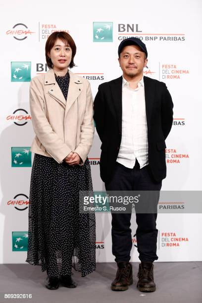 Kazuya Shiraishi and Kazumi Fukase attend 'Birds Without Names' photocall during the 12th Rome Film Fest at Auditorium Parco Della Musica on November...