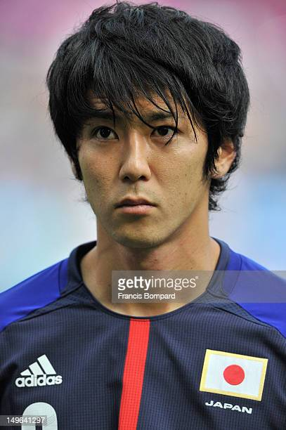 Kazuya Yamamura of Japan looks on during the Men's Football first round Group D Match between Japan and Honduras, on Day 5 of the London 2012 Olympic...