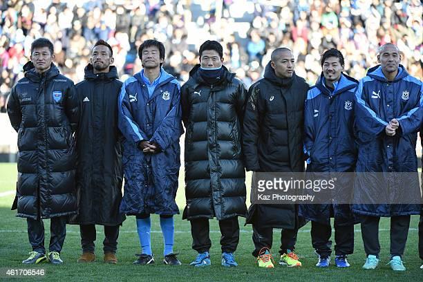 Kazuyoshi Miura Hidetoshi Nakata Masashi Nakayama Toshihiro Hattori Shinji Ono Daisuke Matsui and Naoyasu Takaharaformer team mates of club or Japan...