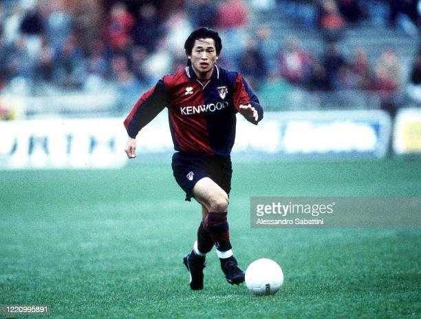 Kazuyoshi Miura of Genoa in action during the Serie A 1994-95, Italy.