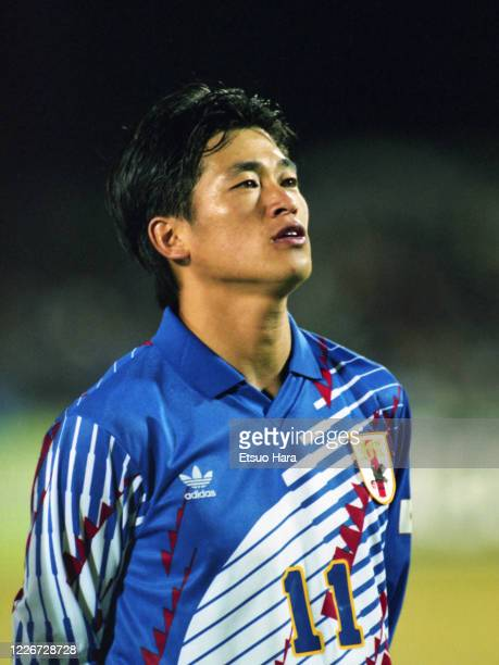Kazuyoshi Miura of Japan is seen prior to the AFC Asian Cup Group A match between Japan and the United Arab Emirates at the Bingo Sports Park...