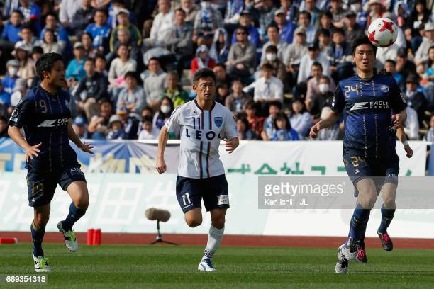 Kazuyoshi Miura of Yokohama FC in action during the JLeague J2 match between Machida Zelvia and Yokohama FC at Machida Athletic Stadium on April 15...