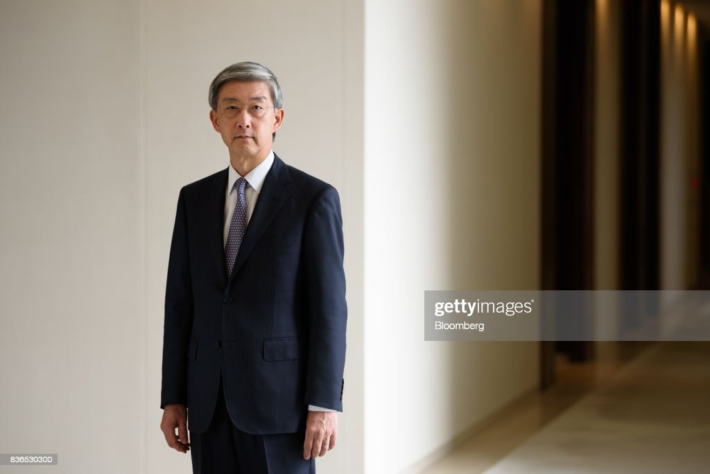 Kazuyuki Masu, executive vice president and chief financial officer of Mitsubishi Corp., poses for a photograph in Tokyo, Japan, on Friday, Aug. 18, 2017. Mitsubishis underlying operating cash flow is expected to reach 2 trillion yen in 3-year period ending March 2019, compared with original forecast of 1 trillion yen, according to Masu. Photographer: Akio Kon/Bloomberg via Getty Images