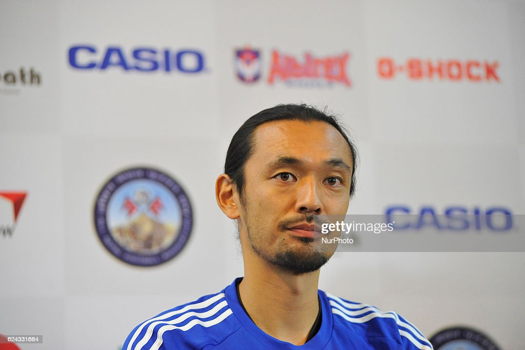 Press Meet for Exhibition match (International friendly) between Nepal and Japan in Nepal : ニュース写真