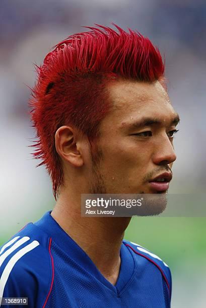 Kazuyuki Toda of Japan before the Japan v Tunisia Group H World Cup Group Stage match played at the OsakaNagai Stadium Osaka Japan on June 14 2002...