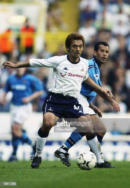Kazuyuki Toda of Tottenham Hotspur in action during the FA Barclaycard Premiership match between Tottenham Hotspur and Manchester City held on April...