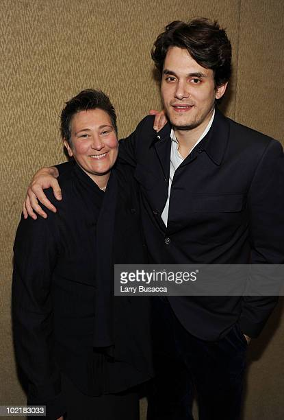 Kd Lang and John Mayer attend the 41st Annual Songwriters Hall of Fame Ceremony at The New York Marriott Marquis on June 17, 2010 in New York City.