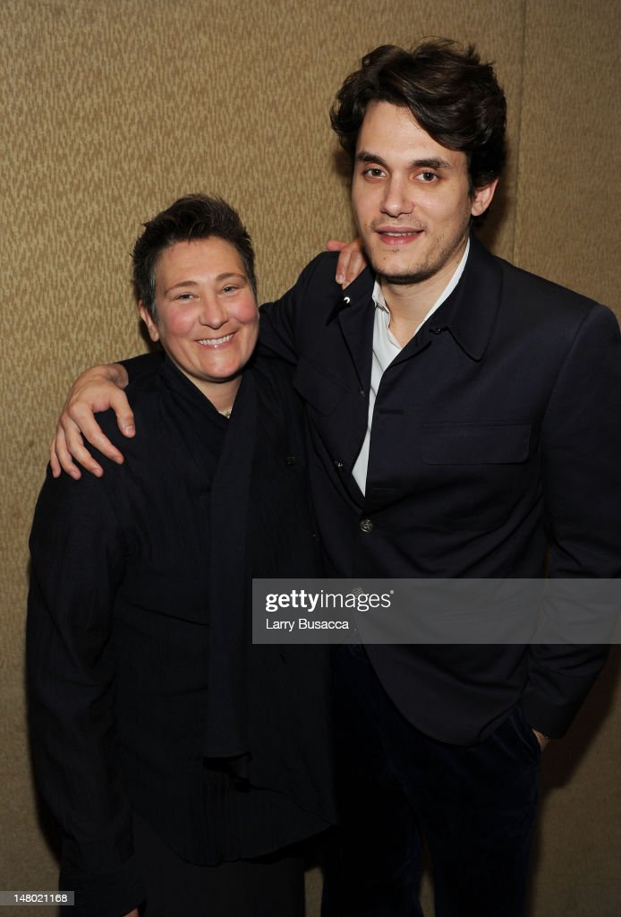 k.d. lang and John Mayer attend the 41st Annual Songwriters Hall of Fame Ceremony at The New York Marriott Marquis on June 17, 2010 in New York City.