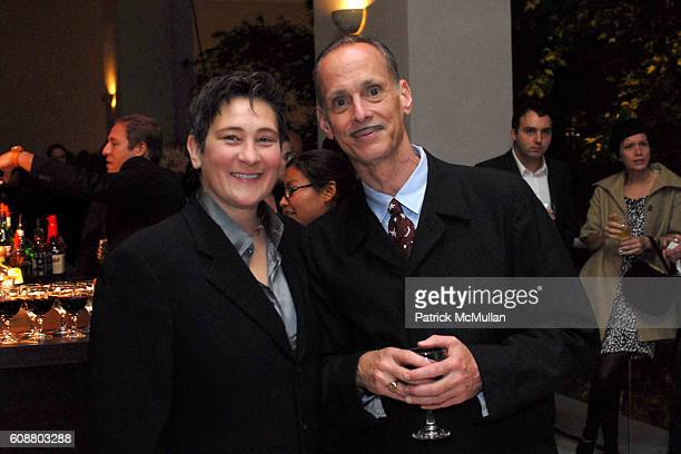 kd lang and John Waters attend Hammer Museum's Gala in the Garden Honoring Mike Kelley and Miuccia Prada at Hammer Museum on October 14 2007 in...