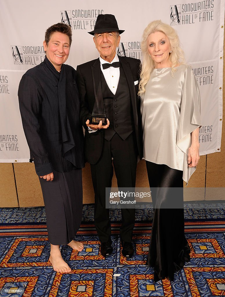 kd lang, Leonard Cohen and Judy Collins attend the 41st Annual Songwriters Hall of Fame Ceremony at The New York Marriott Marquis on June 17, 2010 in New York City.