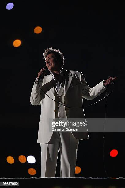kd lang performs during the Opening Ceremony of the 2010 Vancouver Winter Olympics at BC Place on February 12 2010 in Vancouver Canada