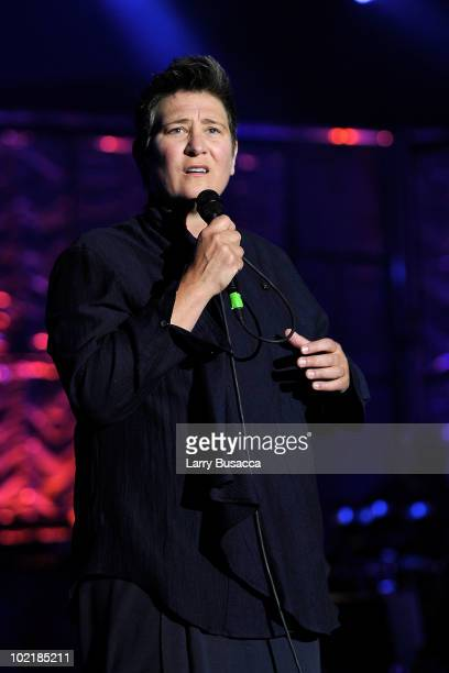 kd lang performs onstage during the 41st Annual Songwriters Hall of Fame Ceremony at The New York Marriott Marquis on June 17 2010 in New York City