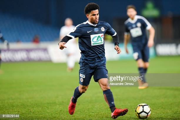 Keagan Dolly of Montpellier during the French National Cup match round of 32 between Montpellier and Lorient on January 24 2018 in Montpellier France