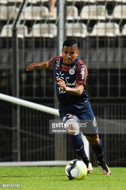 Keagan Dolly of Montpellier during the Friendly match between Montpellier Herault and Olympique Lyonnais on July 30 2017 in Montpellier France