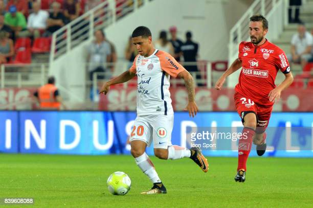 Keagan Dolly of Montpellier during the Ligue 1 match between Dijon FCO and Montpellier Herault SC at Stade Gaston Gerard on August 26 2017 in Dijon