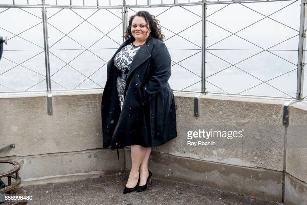 Keala Settle attends the cast of 'The Greatest Showman' light the Empire State Building at The Empire State Building on December 9 2017 in New York...