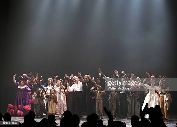 Keala Settle Cliff Saunders Caissie Levy Ramin Karimloo Will Swenson Kyle Scatliffe Andy Mientus Samantha Hill Nikki M James and Company during the...