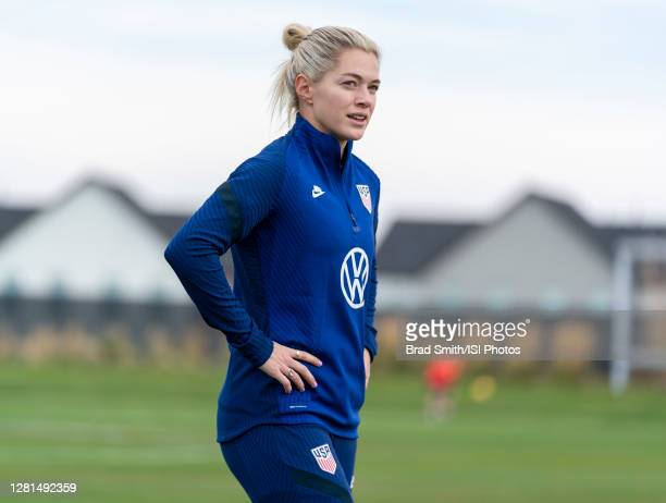 Kealia Watt of the USWNT warms up during a training session at Dick's Sporting Goods Park training fields on October 20 2020 in Commerce City Colorado