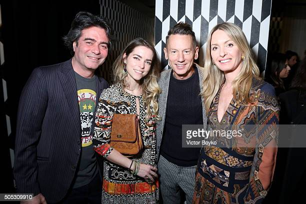 Kean Etro Alice Etro Jim Nelson and Costanza Etro attend GQ's Celebration of GQ Style EditorInChief Will Welch during Milan Men's Fashion Week...