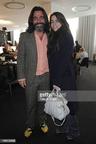 Kean Etro and Alice Etro attend the Etro fashion show as part of Milan Fashion Week Womenswear Autumn/Winter 2011 on February 25 2011 in Milan Italy