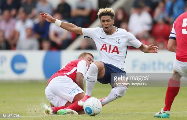 Keanan Bennetts of Tottenham in action during the preseason friendly match between Ebbsfleet United and Tottenham Hotspur at Stonebridge Road on July...