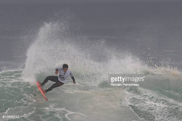 Keanu Asing in action during the first round of the Quiksilver Pro of Surfing at plage des culs nus on October 4 2016 in Hossegor France