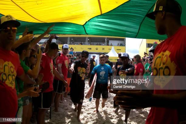 Keanu Asing of Hawaii competing in the 2015 Oi Rio Pro in Rio de Janeiro, Brazil.
