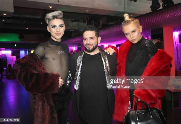 Keanu Balani NYX's Carlos SanMiguel and Matt Sarafa attend NYX Professional Makeup Presents Love You So Mochi at Elevate Lounge on January 13 2018 in...