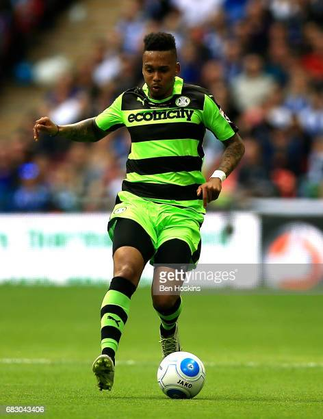 Keanu MarshBrown of Forest Green in action during the Vanarama National League Play Off Final between Tranmere and Forest Green at Wembley Stadium on...