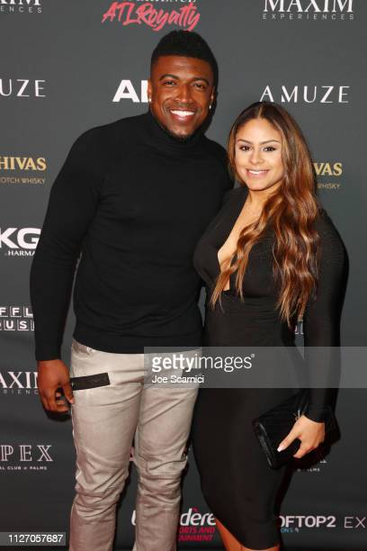 Keanu Neal and Krizia Horta attends The Maxim Big Game Experience at The Fairmont on February 02 2019 in Atlanta Georgia