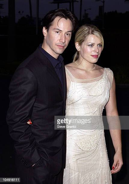 Keanu Reeves Amanda De Cadenet during Hardball Premiere at Paramount Pictures Studios in Los Angeles California United States