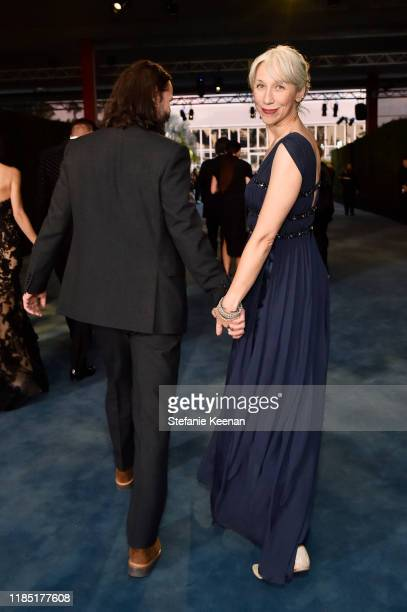 Keanu Reeves and Alexandra Grant attend the 2019 LACMA Art Film Gala Presented By Gucci at LACMA on November 02 2019 in Los Angeles California