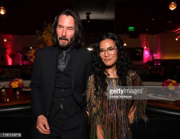 Keanu Reeves and Ali Wong attend the afterparty for the world premiere of Netflix's 'Always Be My Maybe' at STK on May 22 2019 in Westwood California