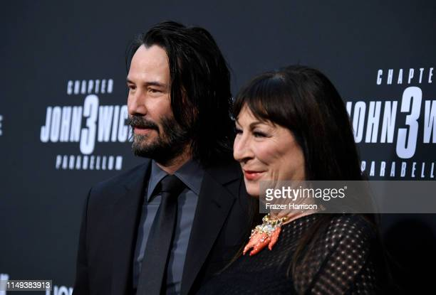 Keanu Reeves and Anjelica Huston attend the special screening of Lionsgate's John Wick Chapter 3 Parabellum at TCL Chinese Theatre on May 15 2019 in...