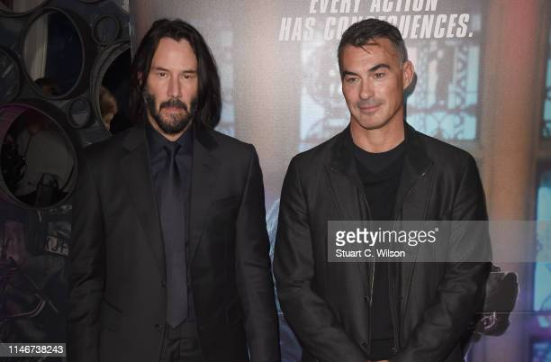Keanu Reeves and Chad Stahelski attend the John Wick Chapter 3 special screening at The Ham Yard Hotel on May 03 2019 in London England