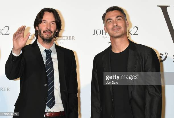 Keanu Reeves and director Chad Stahelski attend the Japan premiere of 'John Wick Chapter 2' at Roppongi Hills on June 13 2017 in Tokyo Japan