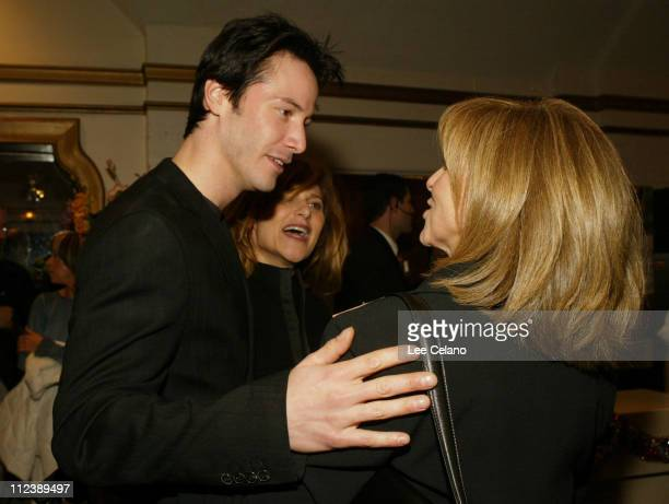 Keanu Reeves and director Nancy Meyers during 'Something's Gotta Give' Los Angeles Premiere Red Carpet at Mann Village Westwood in Westwood...
