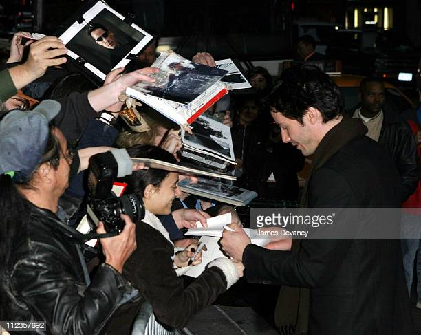 Keanu Reeves and fans during Keanu Reeves Visits the Late Show with David Letterman October 29 2003 at Ed Sullivan Theater in New York City New York...