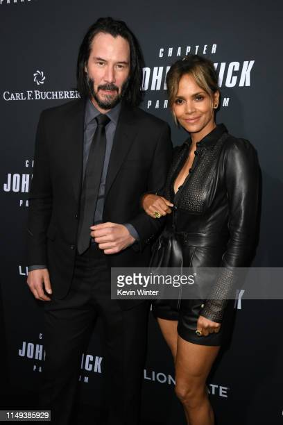 Keanu Reeves and Halle Berry attend the special screening of Lionsgate's John Wick Chapter 3 Parabellum at TCL Chinese Theatre on May 15 2019 in...