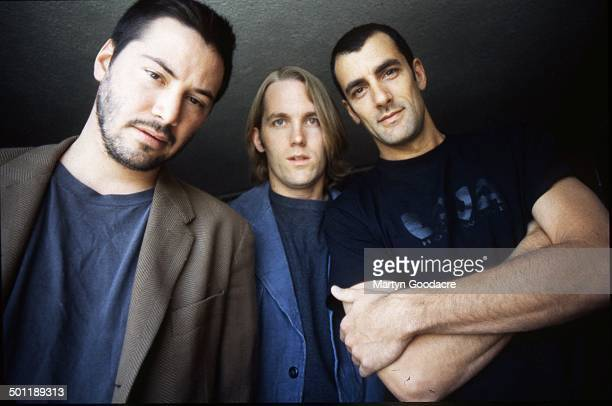 Keanu Reeves and his band Dogstar, group portrait, Scotland, United Kingdom, 1996.