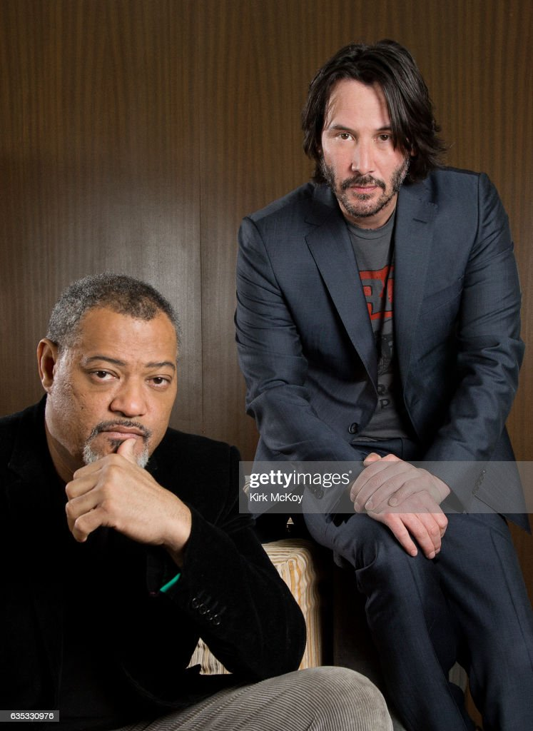 Keanu Reeves and Laurence Fishburne, Los Angeles Times, February 14, 2017