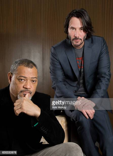 Keanu Reeves and Laurence Fishburne are photographed for Los Angeles Times on January 27 2017 in Los Angeles California PUBLISHED IMAGE CREDIT MUST...