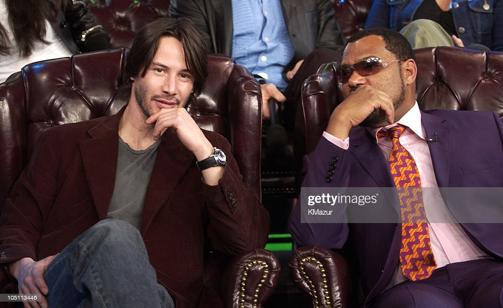 "The Cast of ""The Matrix Reloaded"" and P.O.D. Visit MTV's ""TRL"" - May 5, 2003 : News Photo"