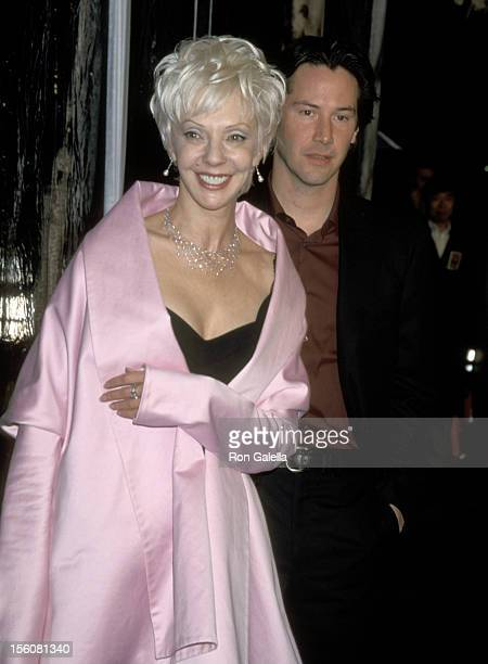 Keanu Reeves and Mother Patricia Reeves during Sweet November Premiere at Bruin Theatre in Westwood, California, United States.