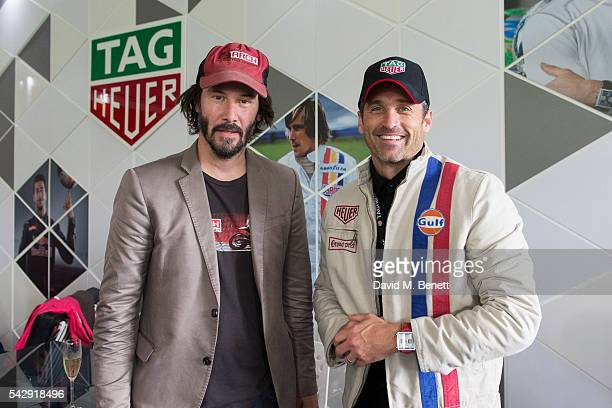 Keanu Reeves and Patrick Dempsey attend the TAG Heuer Drivers Club at the Goodwood Festival Of Speed on June 25 2016 in Chichester England